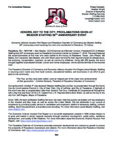 Meador Staffing 50th Press Release